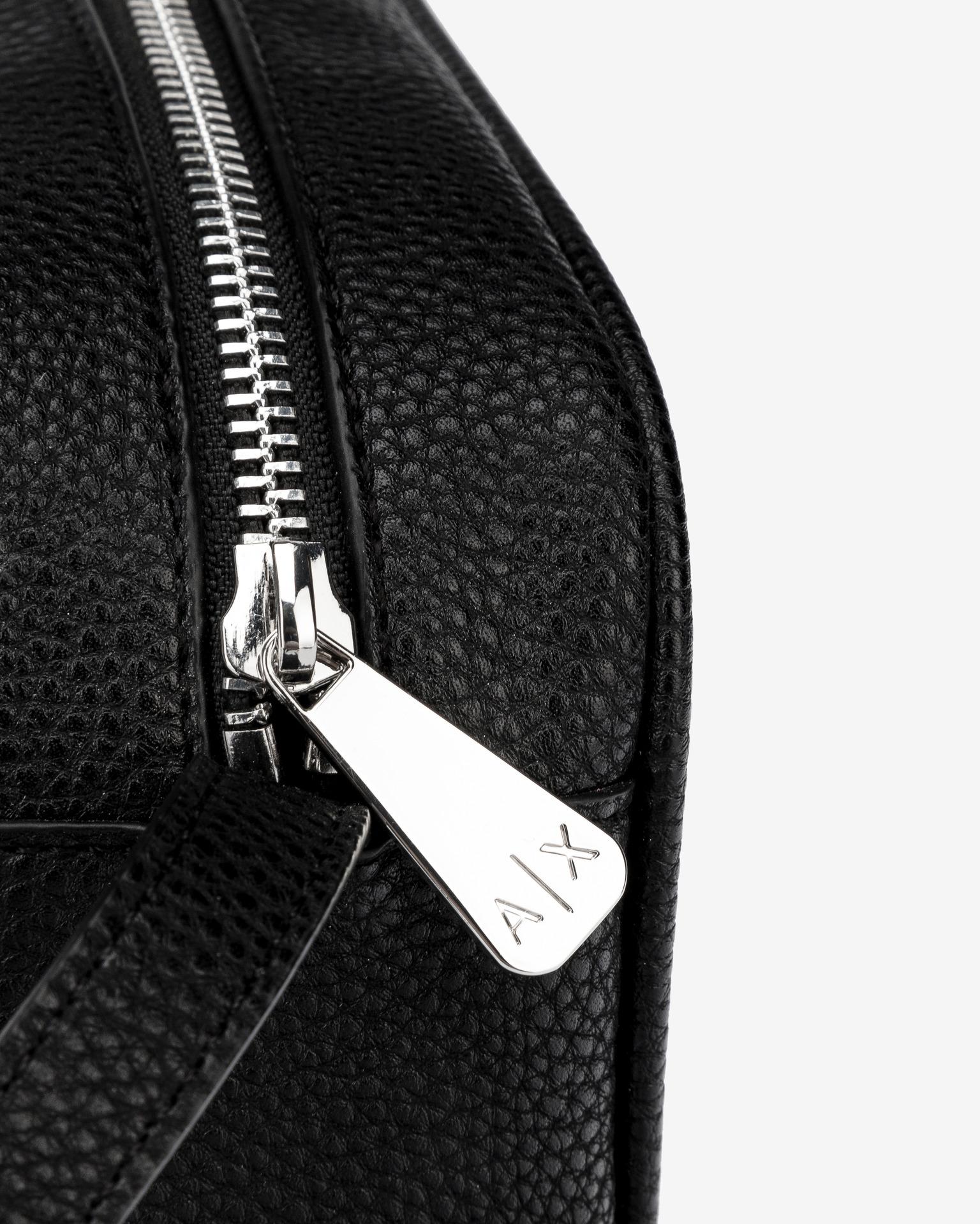 Armani Exchange negre crossbody geanta