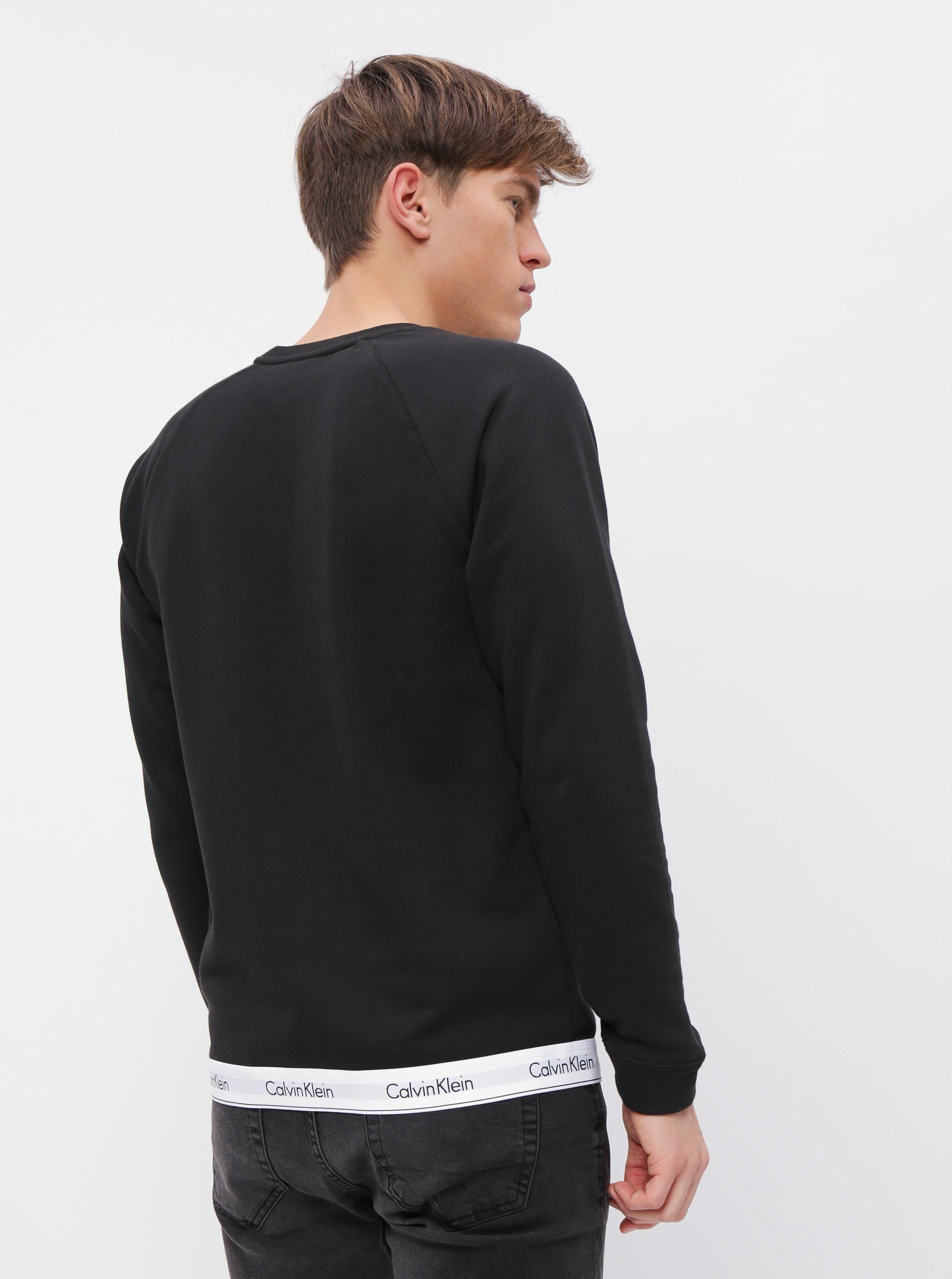 Calvin Klein hanorac negru de bărbați Sweatshirt