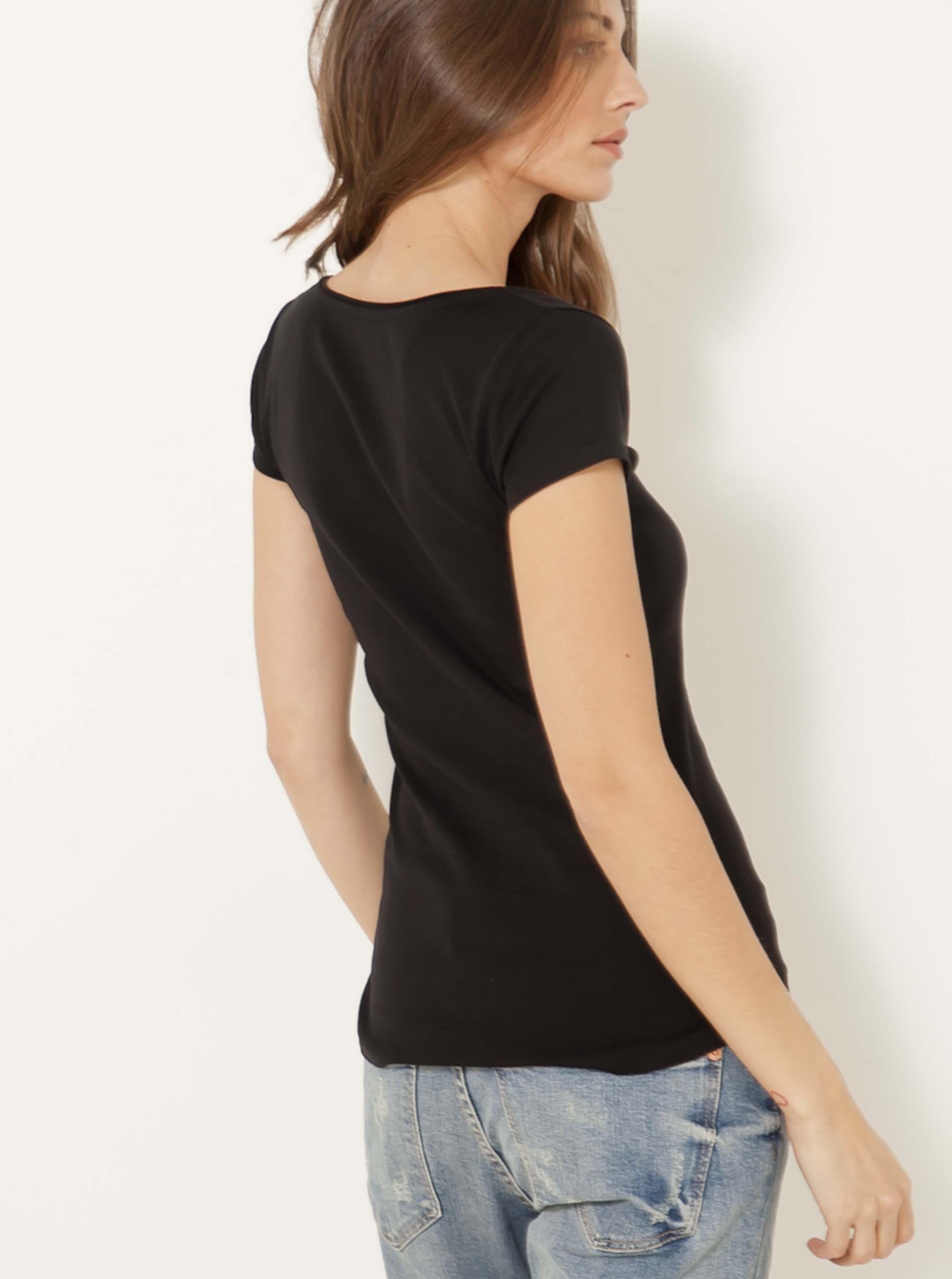 CAMAIEU negre de dama tricou