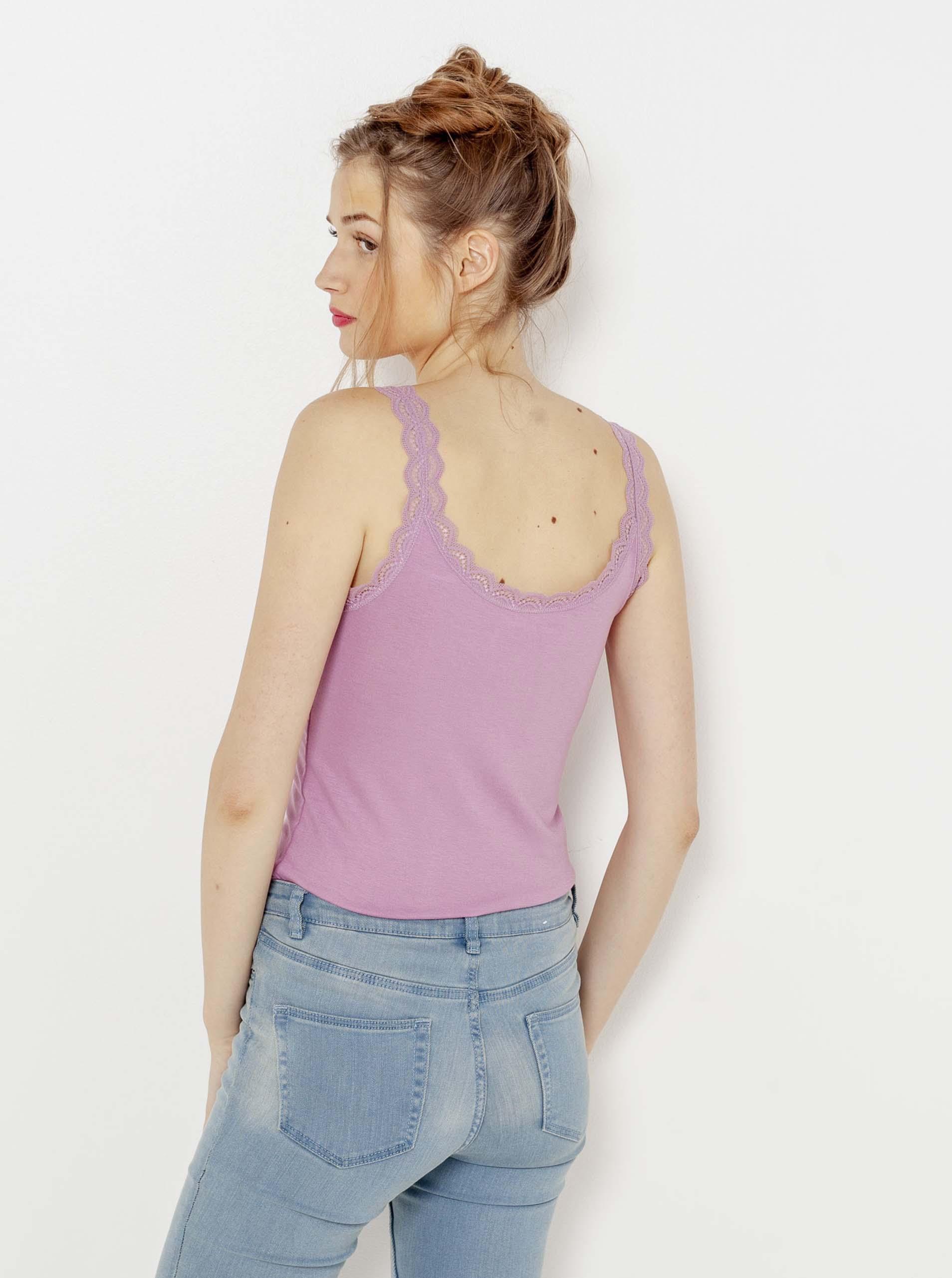 CAMAIEU violet de dama maieu cu dantelă