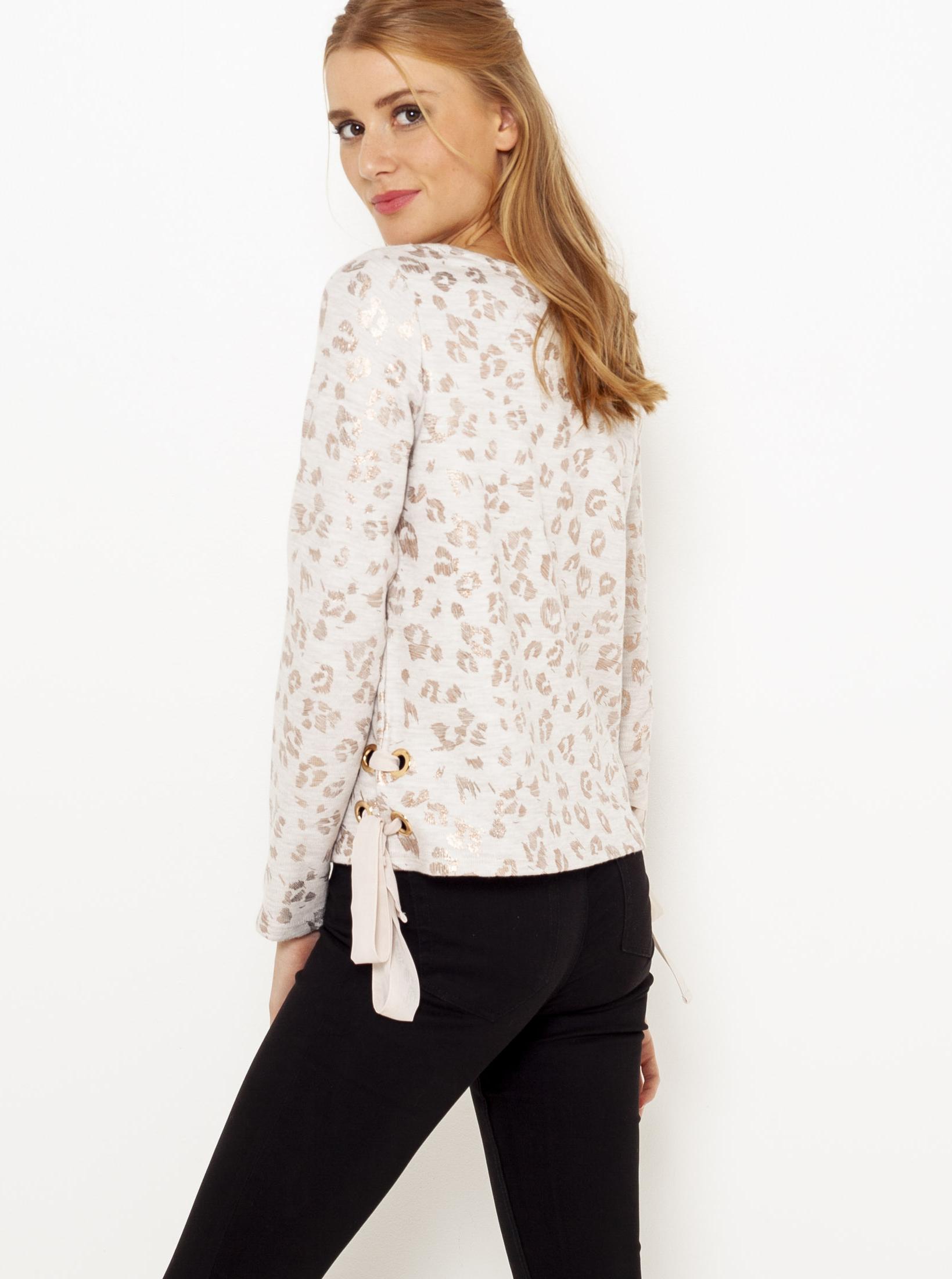 Bluză albă cu model CAMAIEU