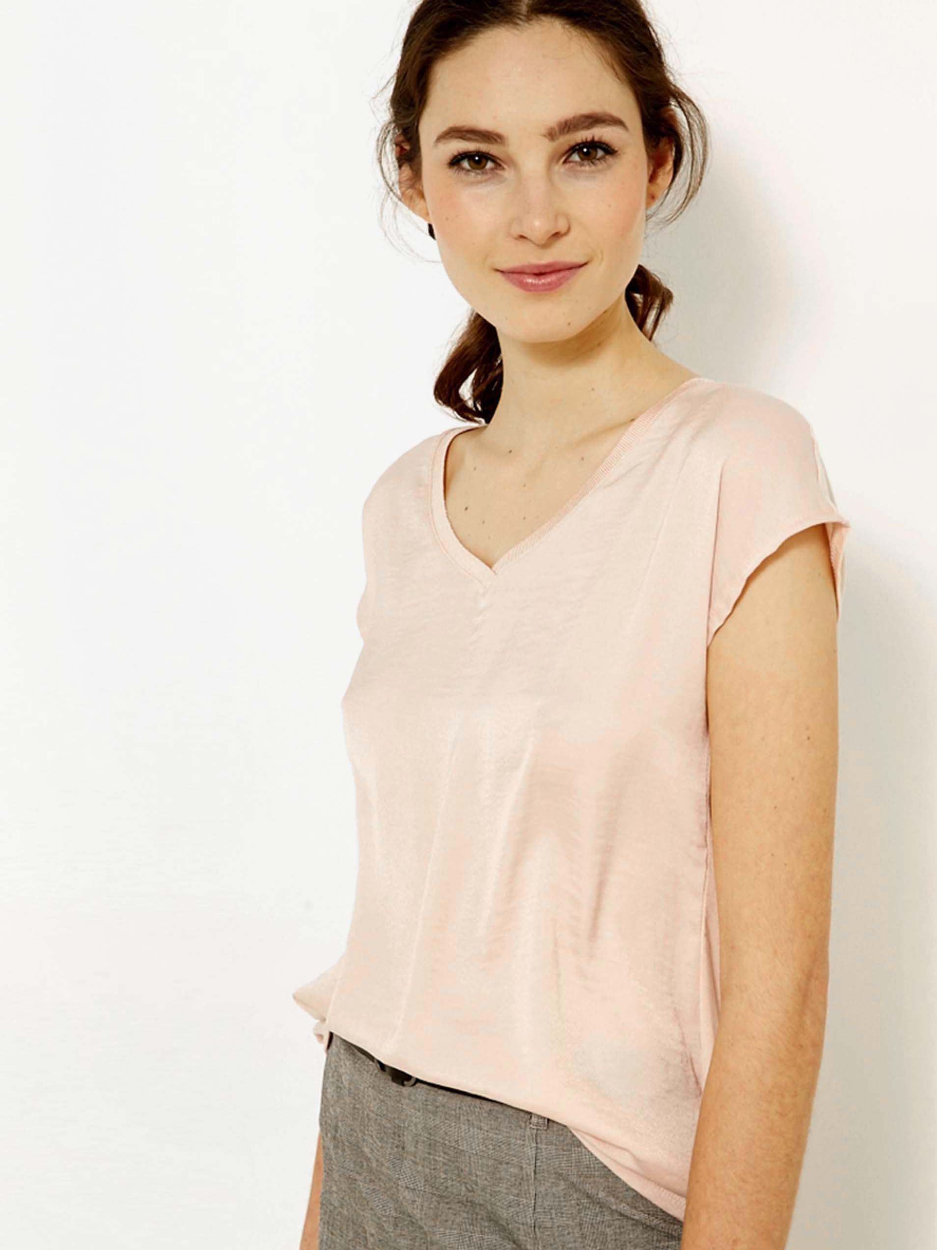 CAMAIEU roz tricou