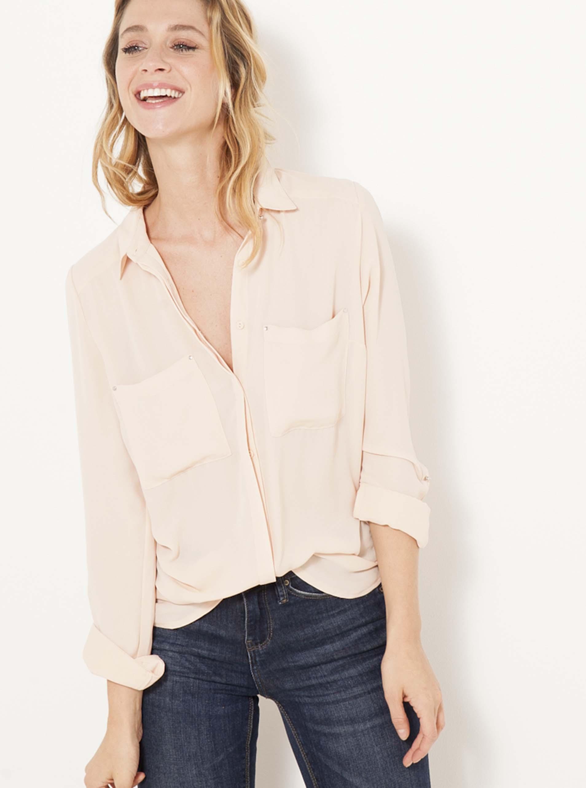 Bluză roz deschis CAMAIEU