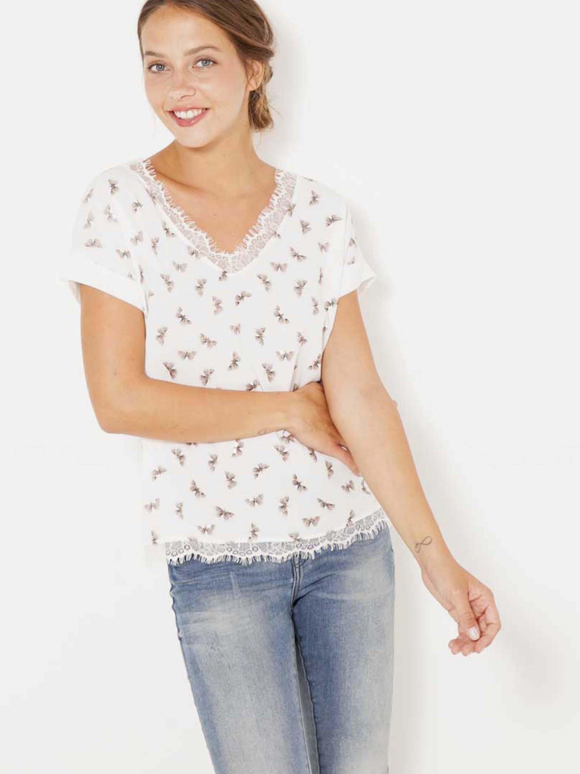 Tricouri pentru femei CAMAIEU - alb