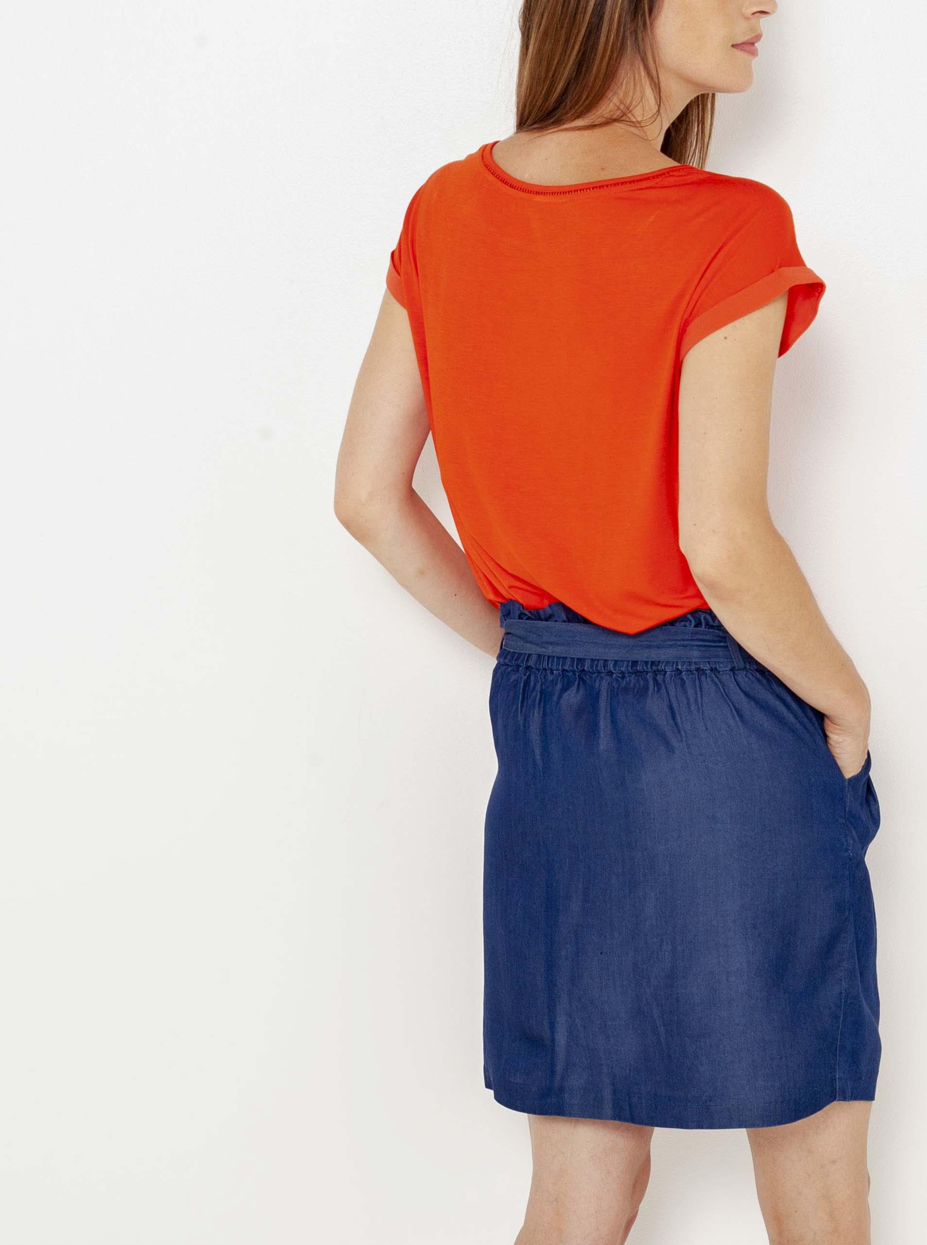 CAMAIEU portocalii tricou