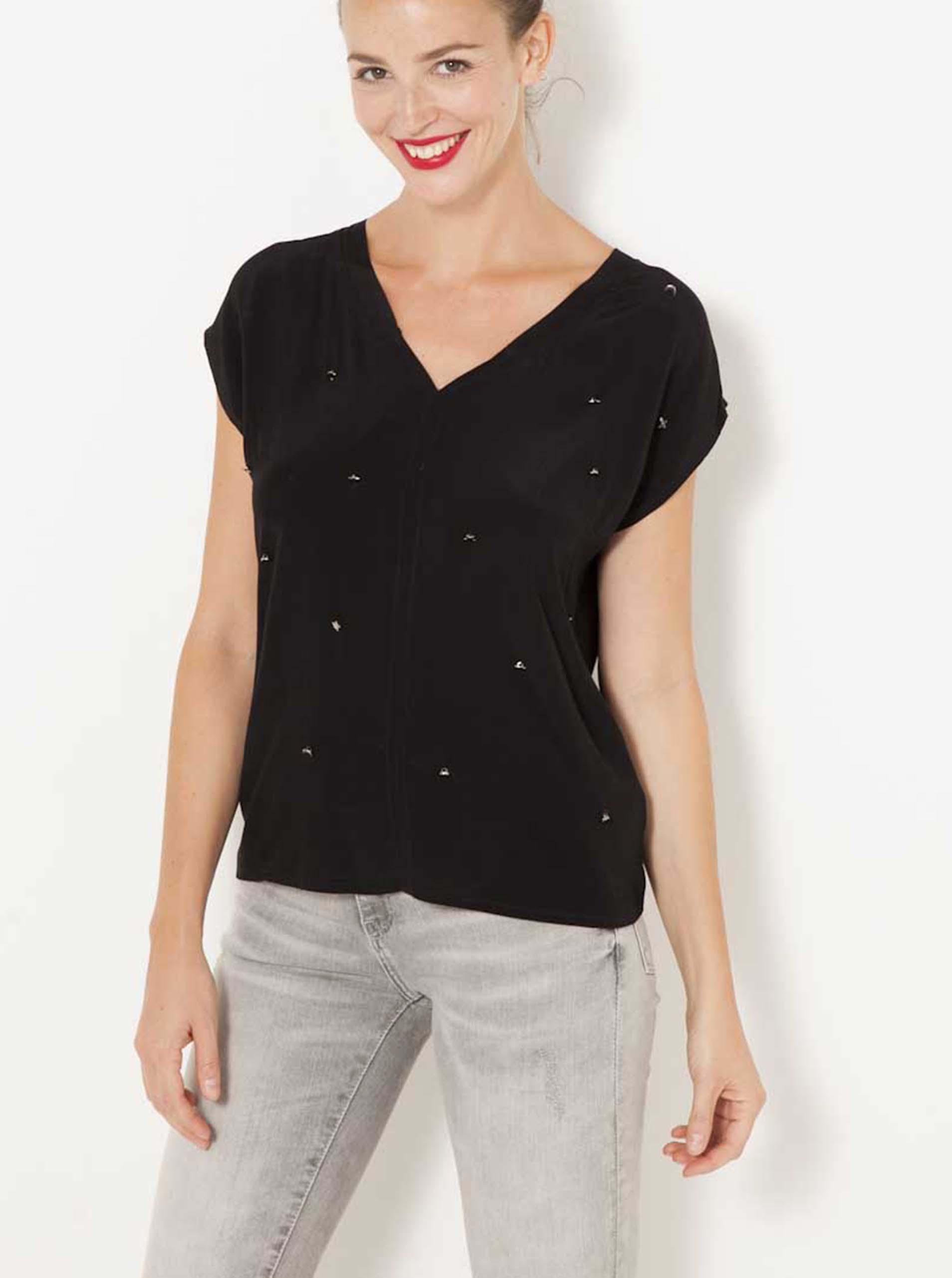 Tricouri pentru femei CAMAIEU - negru