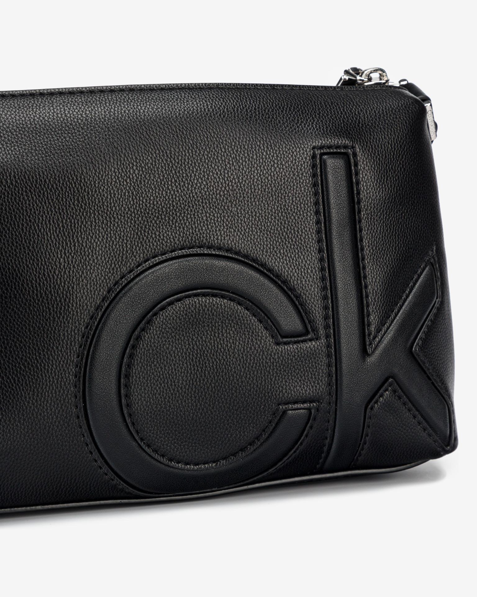 Calvin Klein negre crossbody geanta