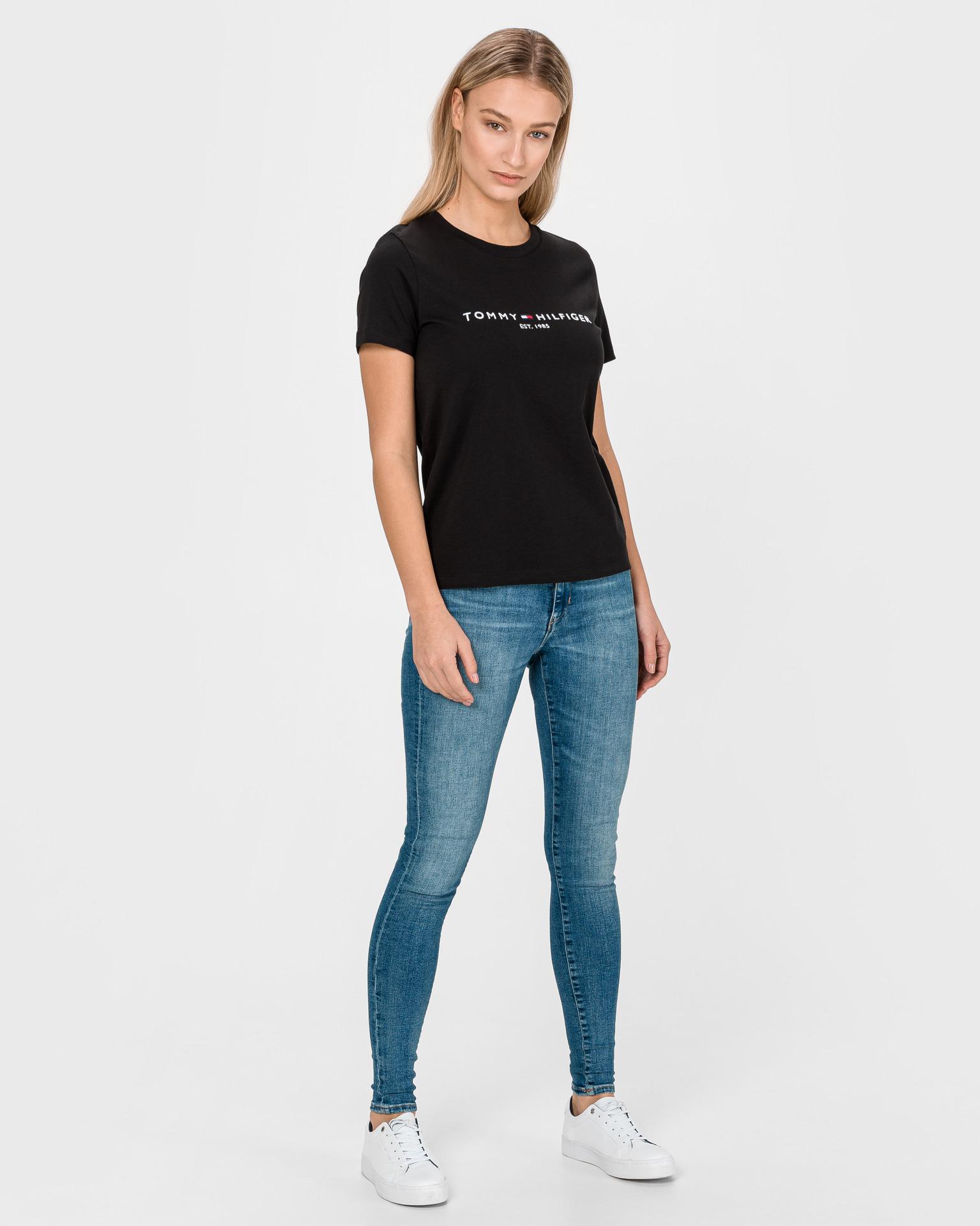 Tommy Hilfiger negre de dama tricou Essential