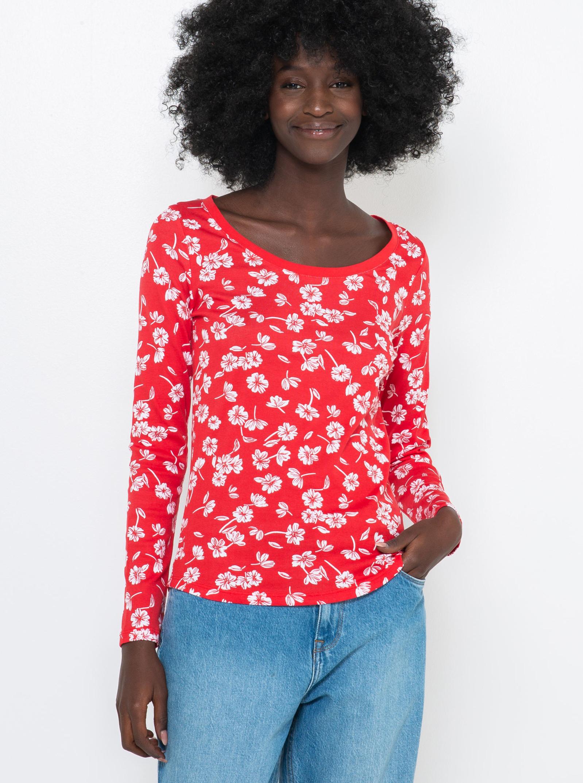 CAMAIEU Tricou de dama rosu