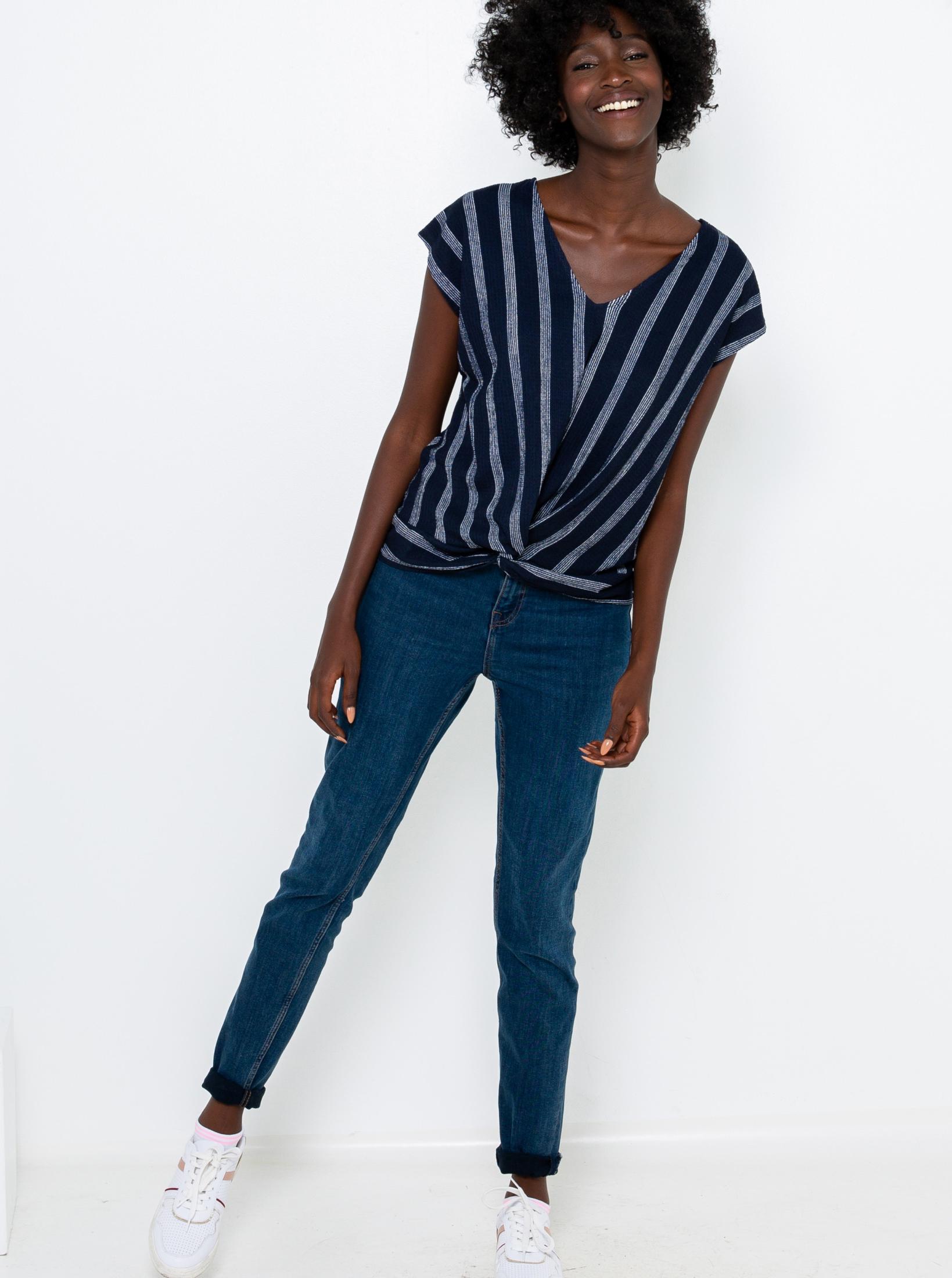 CAMAIEU albastre in dungi tricou