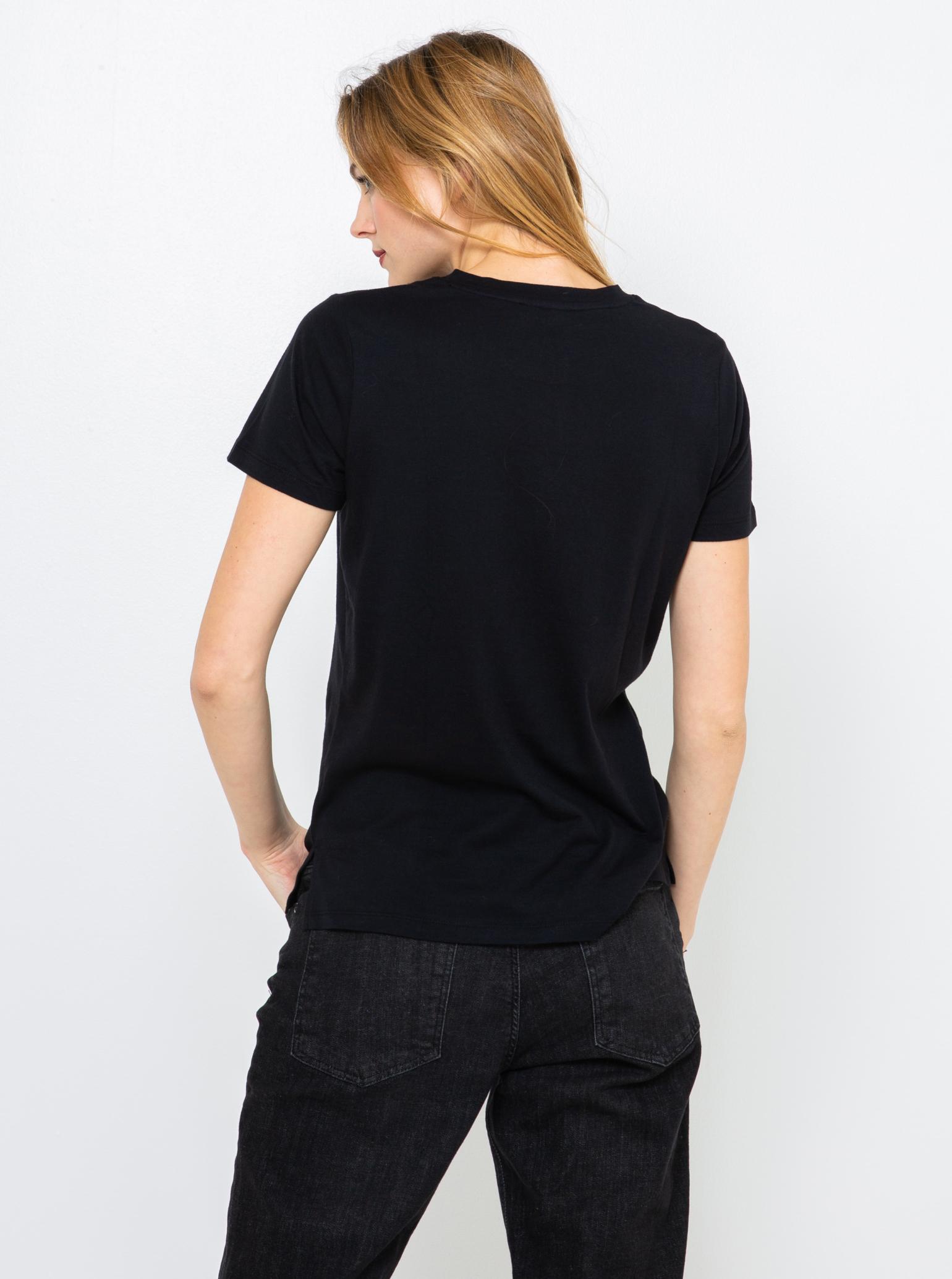 CAMAIEU negre de dama tricou cu imprimeu