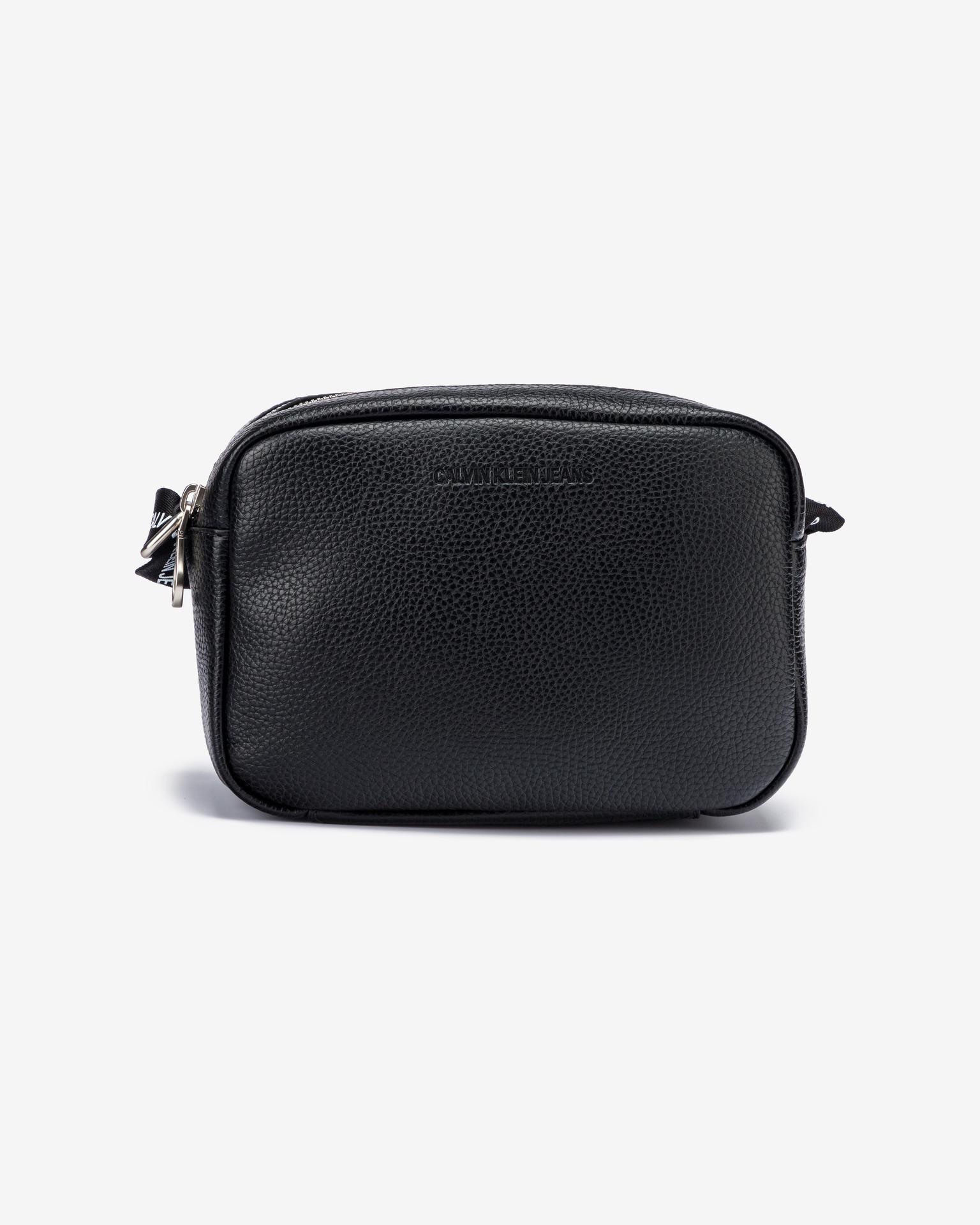 Calvin Klein negre crossbody geanta Double Zip Camera