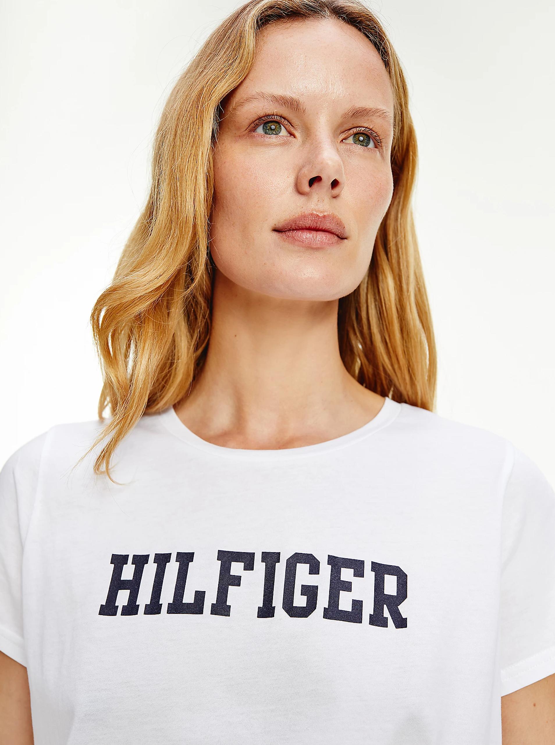 Tommy Hilfiger albe tricou cu logo