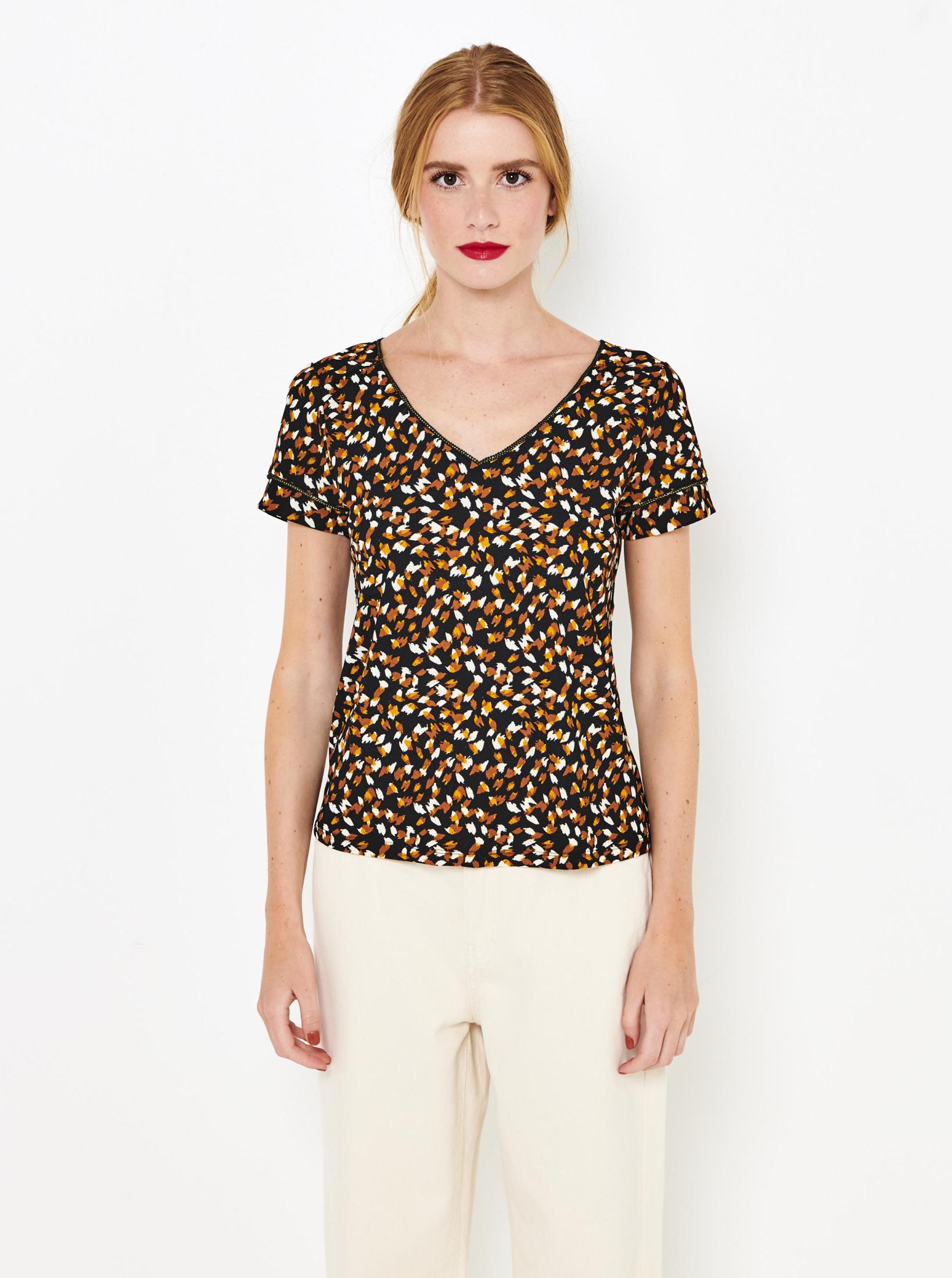 CAMAIEU maronii tricou cu tipar