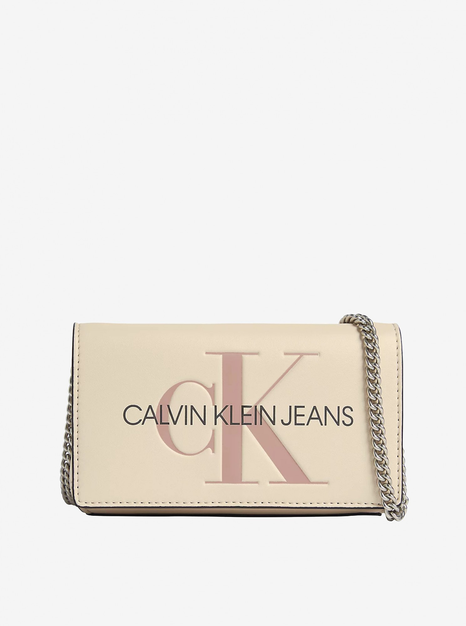 Calvin Klein smantanii/crem crossbody geanta