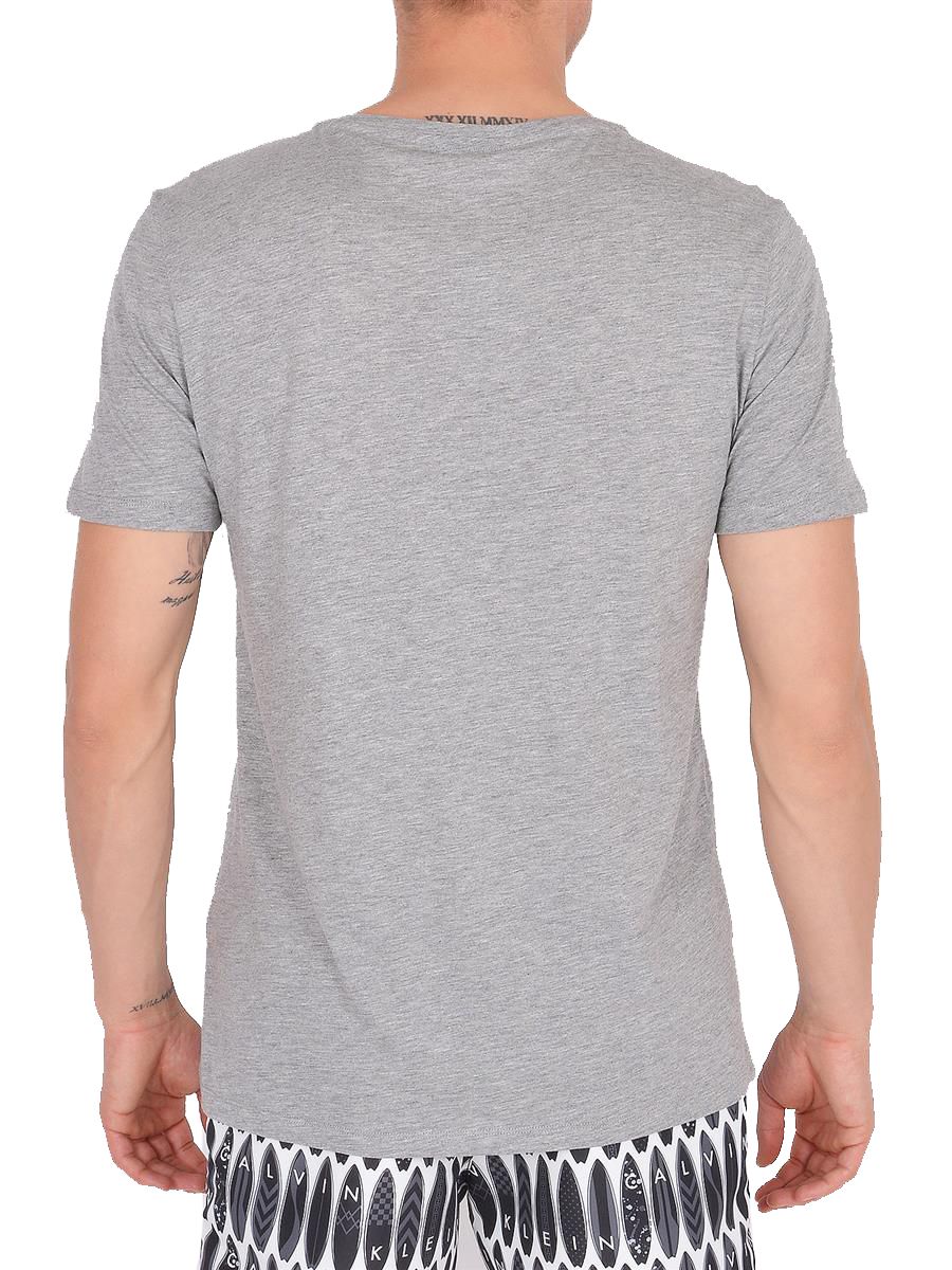 Calvin Klein tricou gri de barbati Surfs up Relaxed Grey Heather