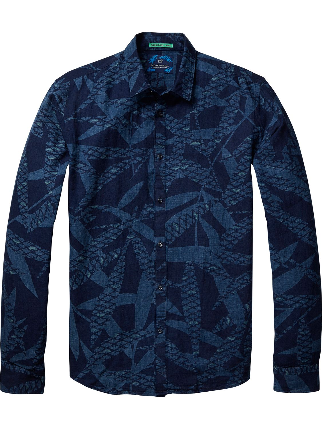 Scotch&Soda camasa albastra de barbati All Over Printed