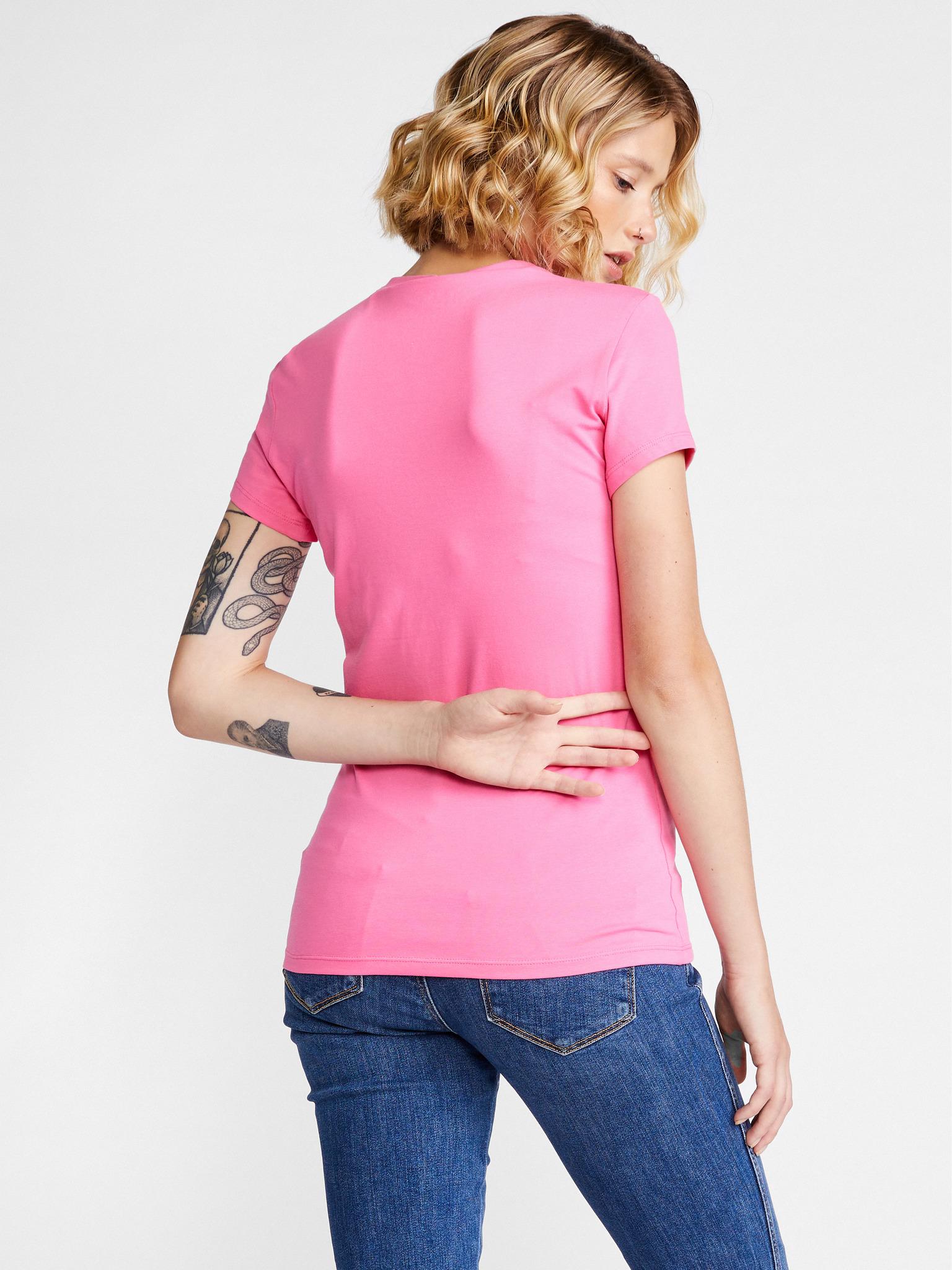 Guess Tricou de dama roz  Triangle