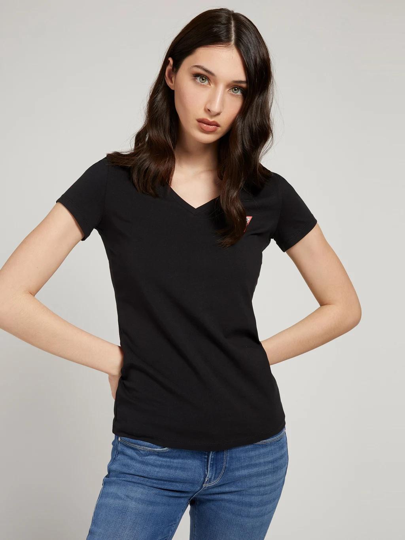Guess Tricou de dama negru  Triangle