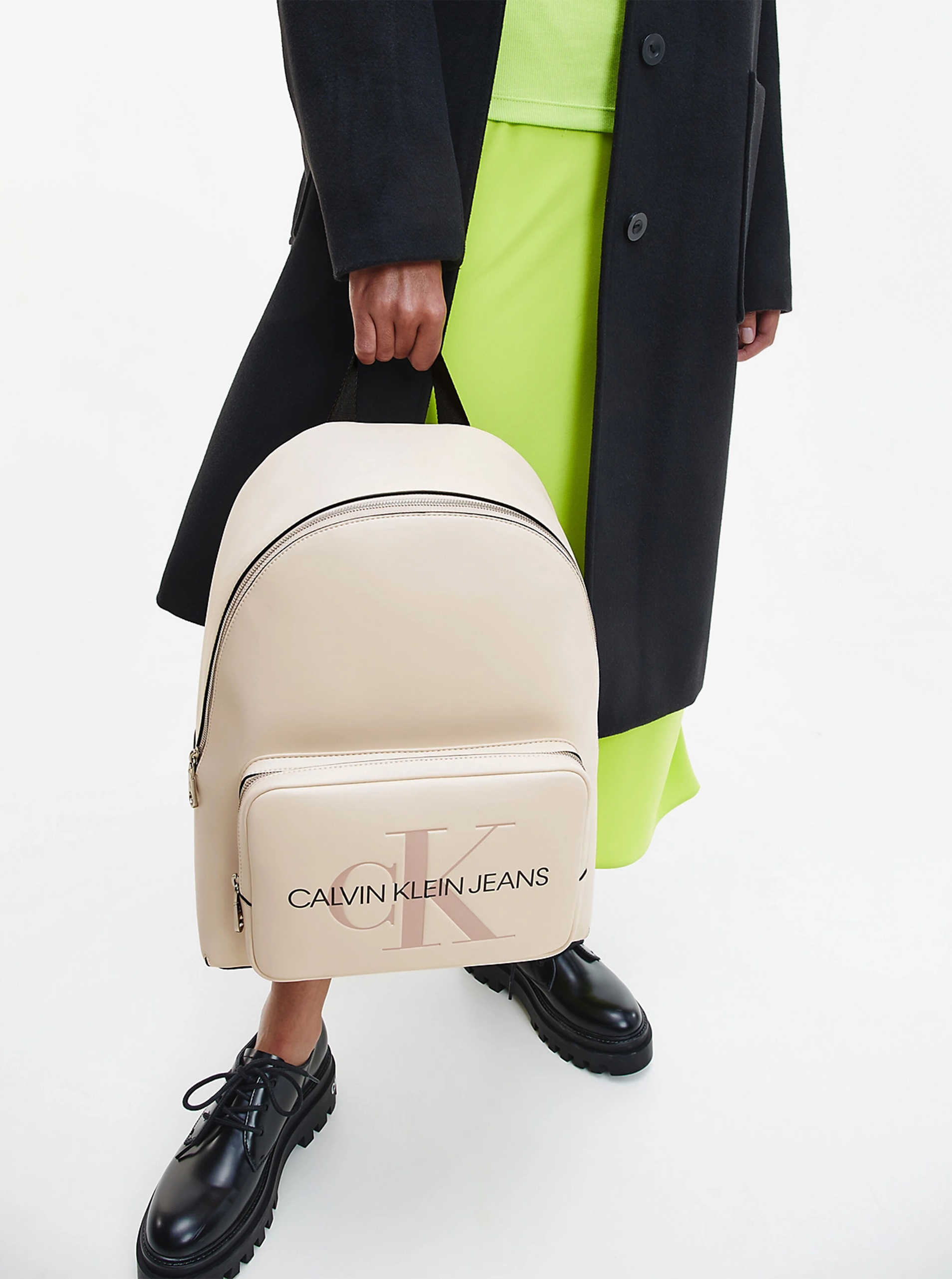 Calvin Klein smantanii/crem rucsac