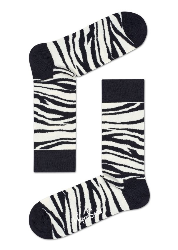 Happy Socks sosete de barbati motiv animal print Zebra