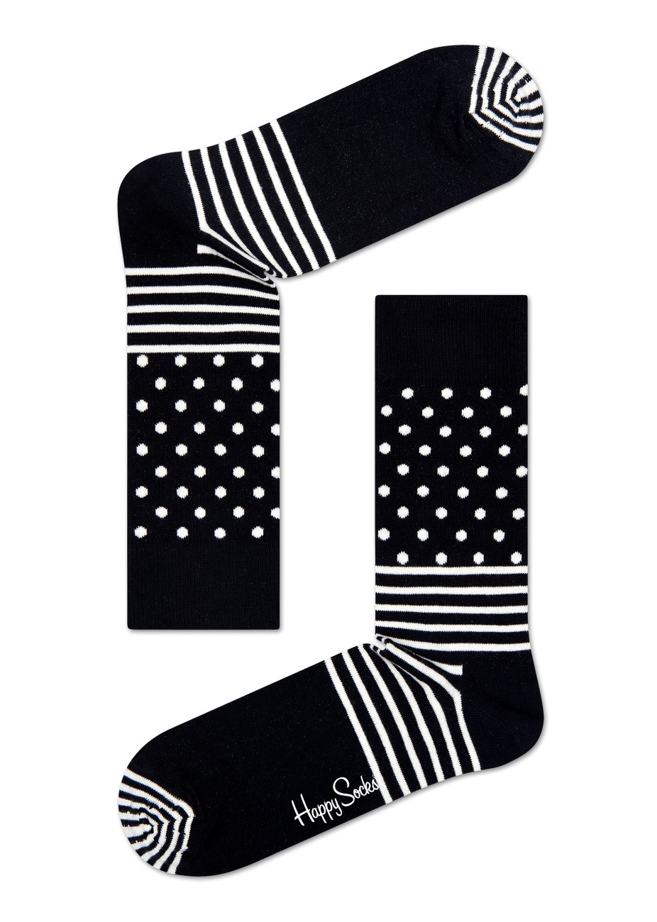 Happy Socks șosete negre de bărbați Stripe Dot