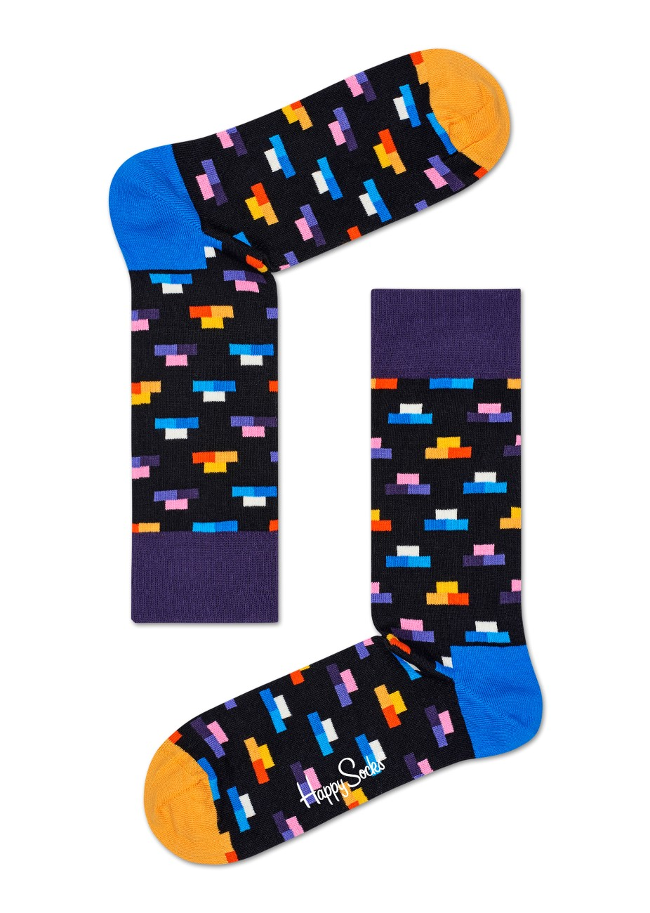 Happy Socks sosete negre de barbati Bricks