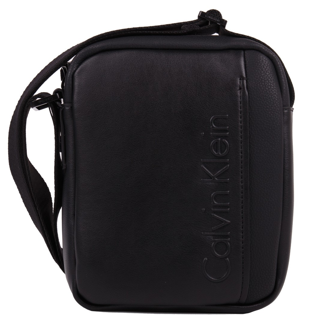 Calvin Klein broseta neagra de barbati Elevated Logo Mini Reporter