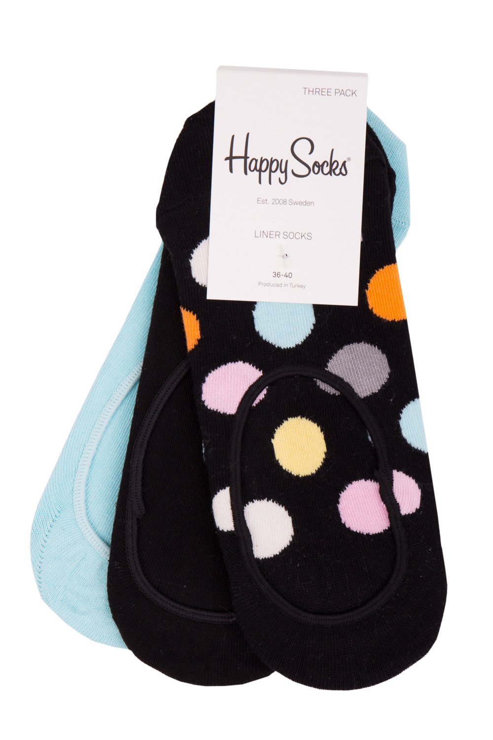 Happy Socks 3 pack sosete scurte de dama Big Dot