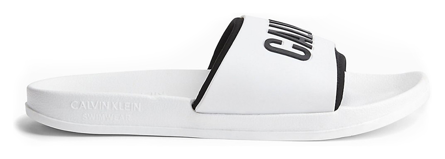 Calvin Klein papuci albi unisex Slide Intense Power