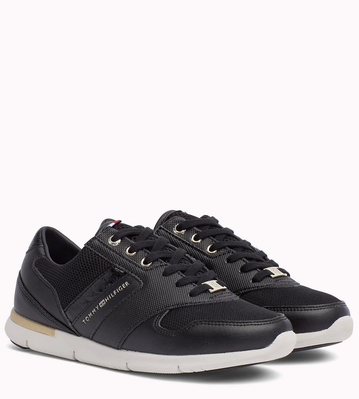 Tommy Hilfiger tenisi negri Light Weight Breathable Sneaker Black ... aa952f1b25