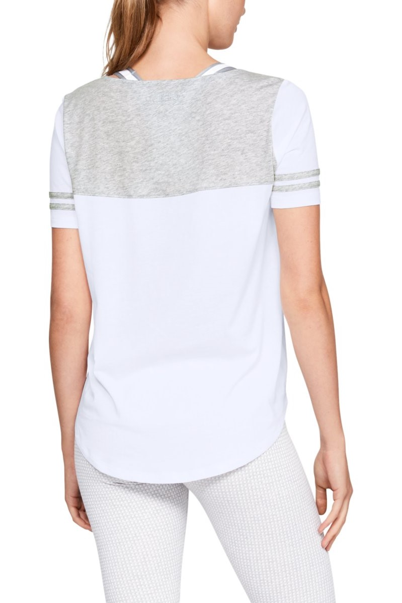 Under Armour tricou alb de dama Sportstyle Baseball