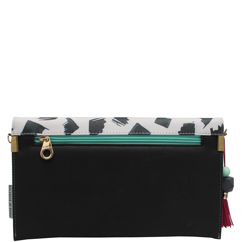 Disaster geanta crossbody Paint Black Clutch