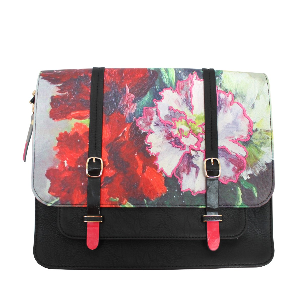 Disaster crossbody geanta ghiozdan Framed Red
