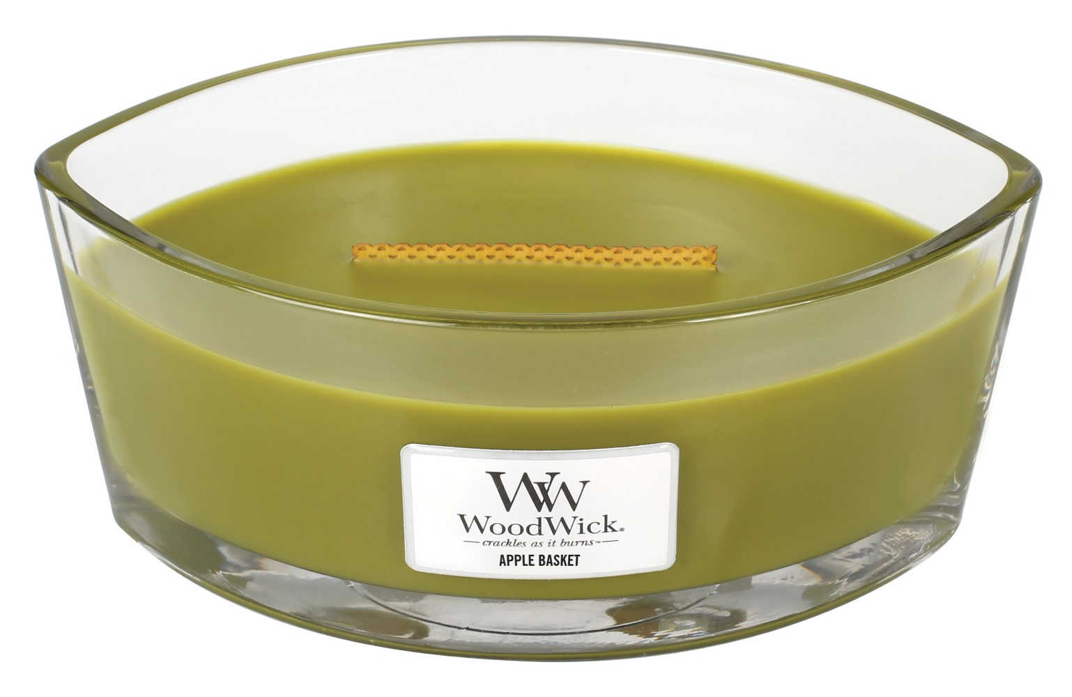 WoodWick lumanare parfumata Apple Basket barca
