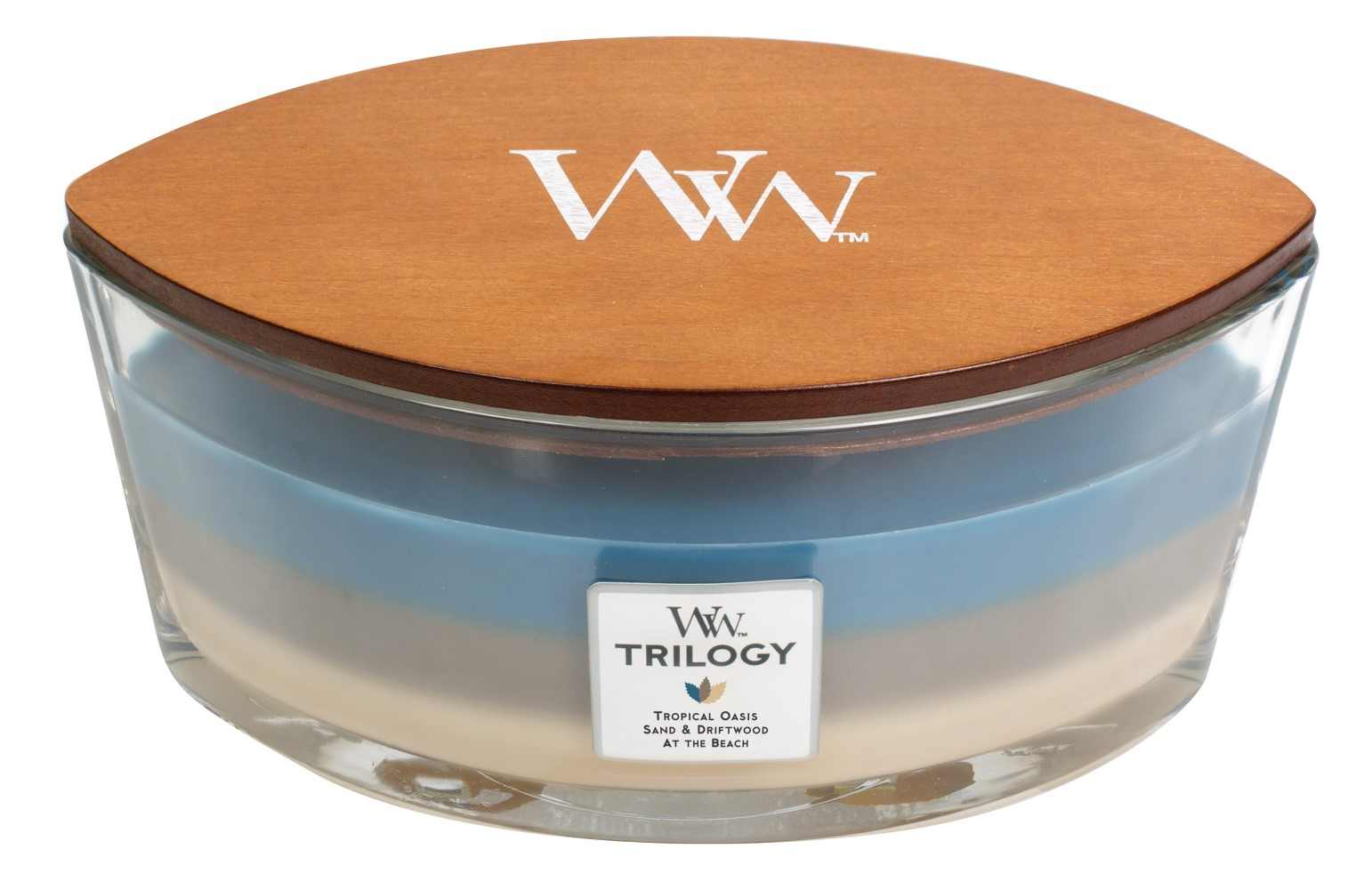 WoodWick lumanare  parfumata Trilogy Nautical Escape barca