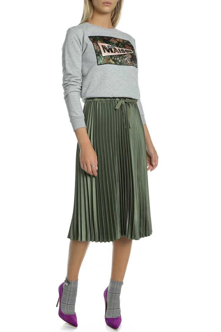 Scotch&Soda fustă kaki Pleated