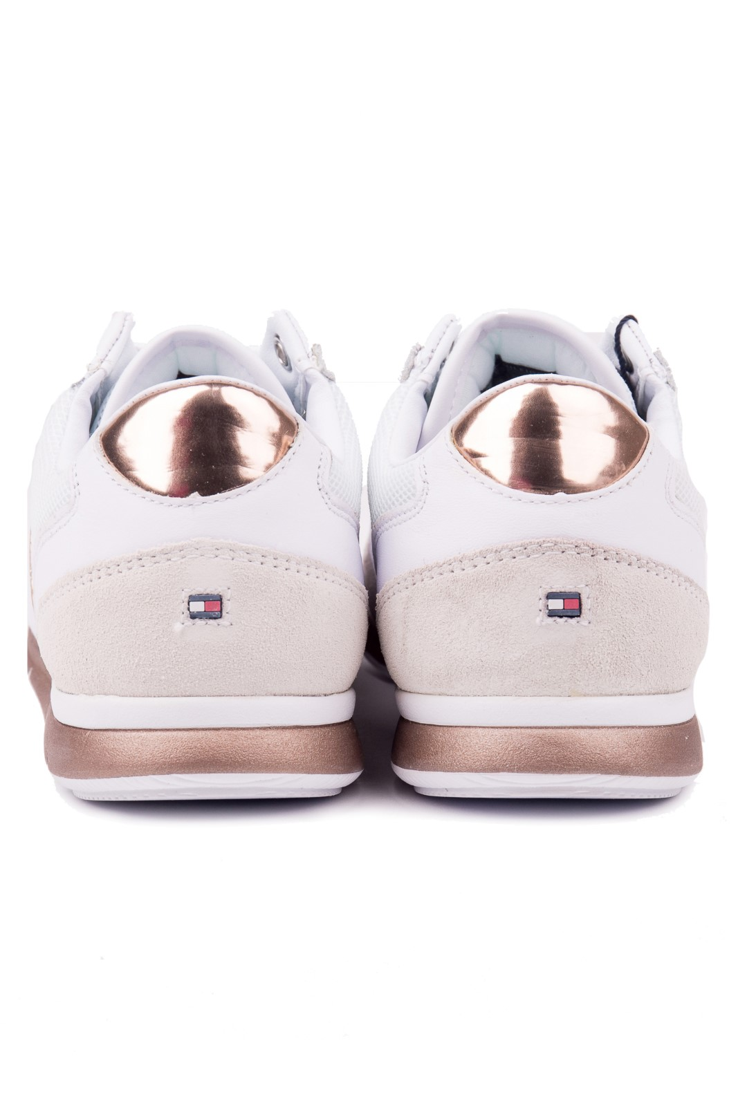 Tommy Hilfiger tenisi albi din piele Iridescent Light Sneaker