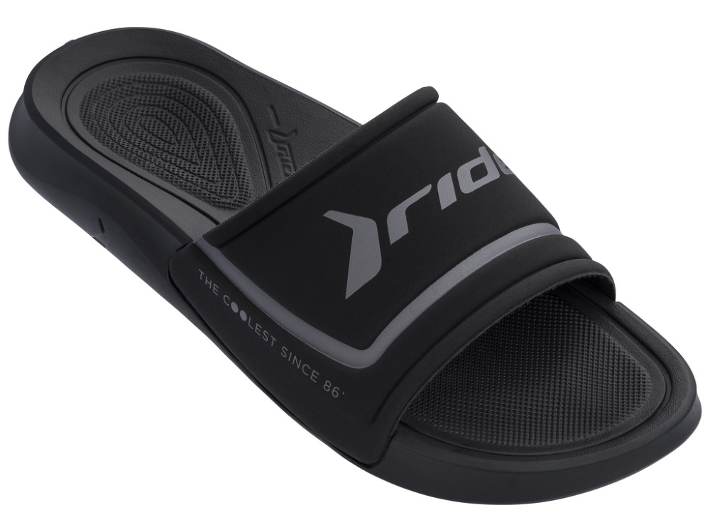 Rider papuci negri unisex Infinity Light Slide Ad Black/Dark Grey