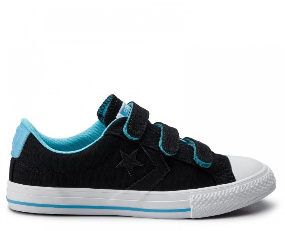 Converse tenisi negri One Star Player Ox Black/Gnarly Blue