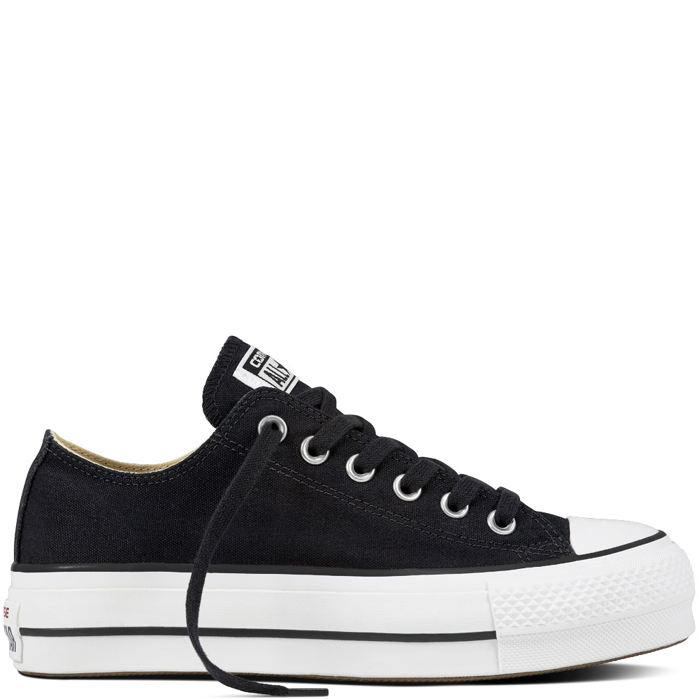 Converse tenisi negri cu platformă Chuck Taylor All Star Lift Ox Black/White