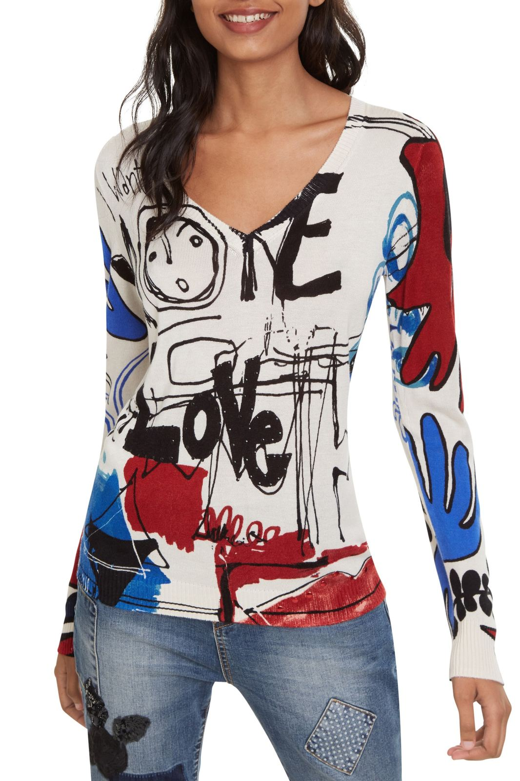 Desigual pulover colorat Jers Winnipeg