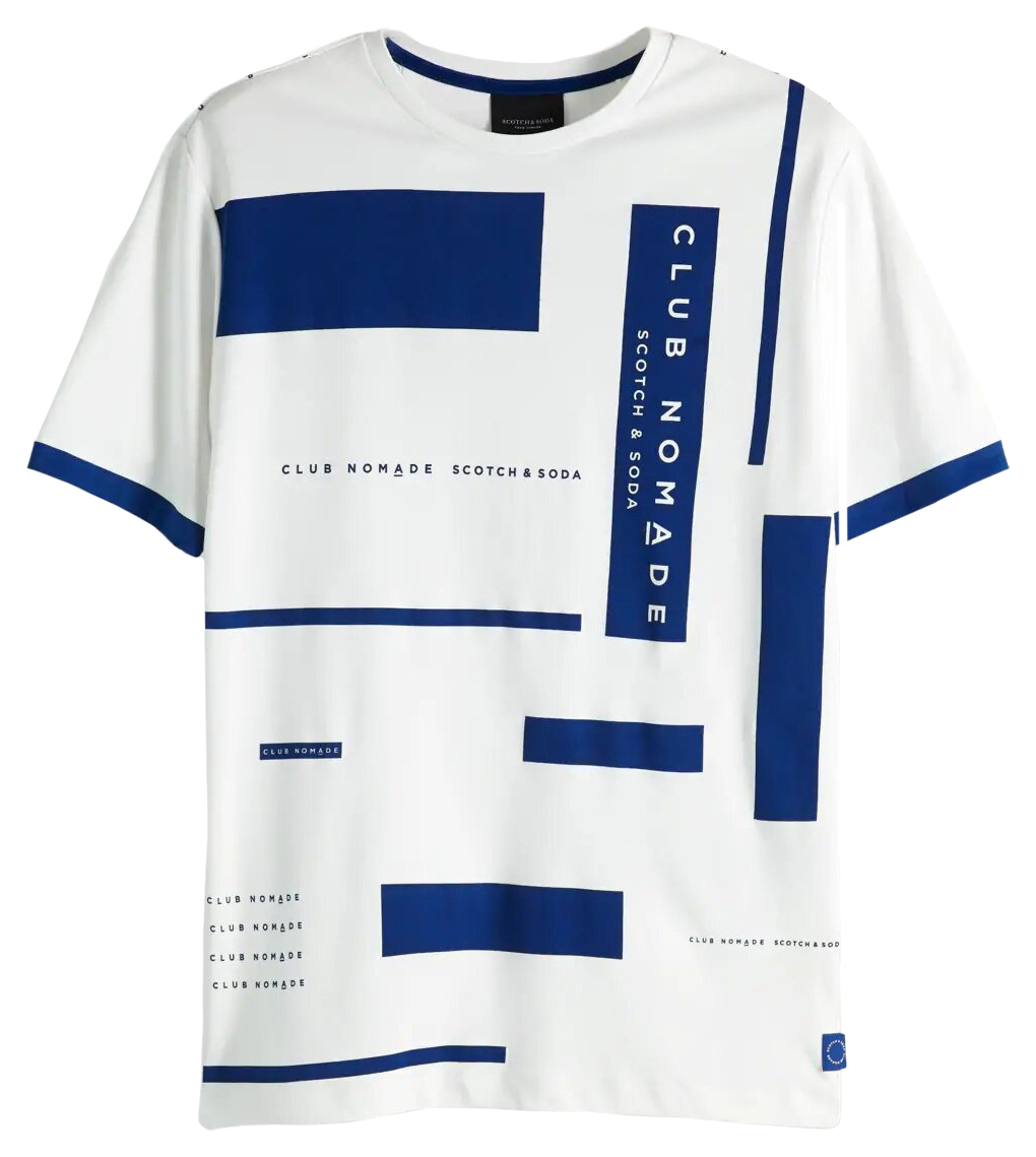 Scotch & Soda tricou alb de bărbați Club Nomade