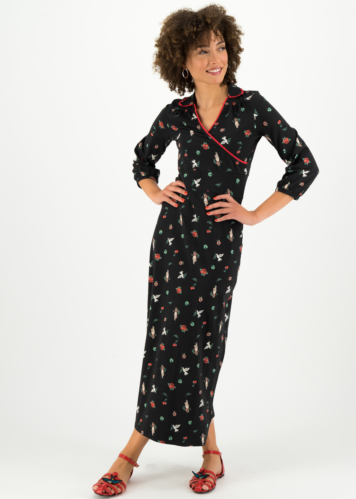 Blutsgeschwister rochie neagra maxi The Beauty of Freedom Robe Scout Vow