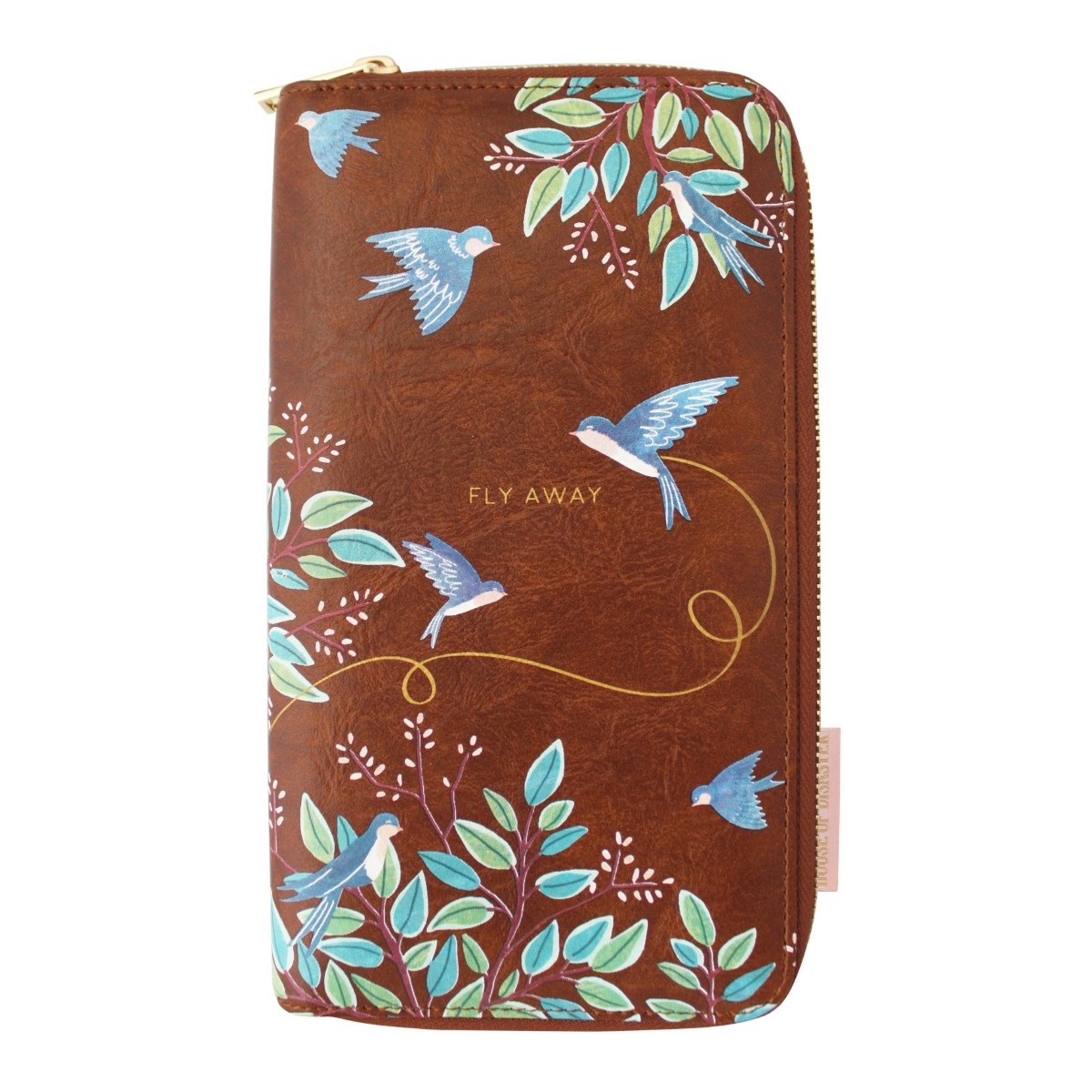 Disaster suport mare maro de acte Secret Garden Bird Travel Wallet