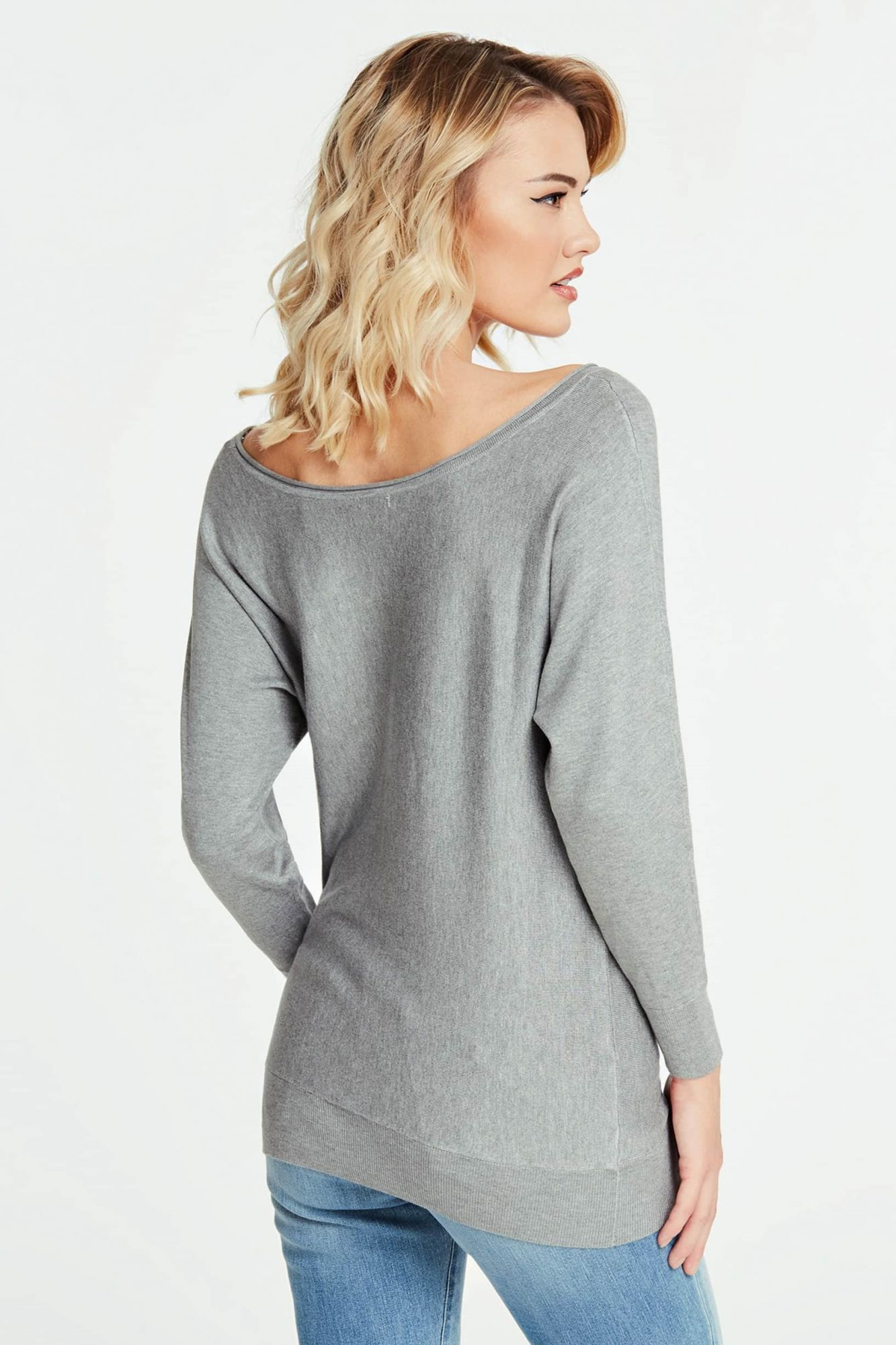 Guess pulover gri Jewel Sweater
