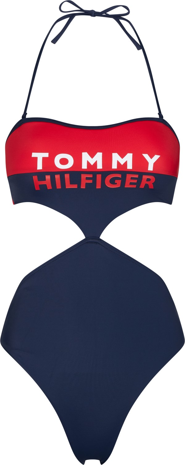 Tommy Hilfiger costum de baie dintr-o piesa Cheeky Cut Out One-Piece