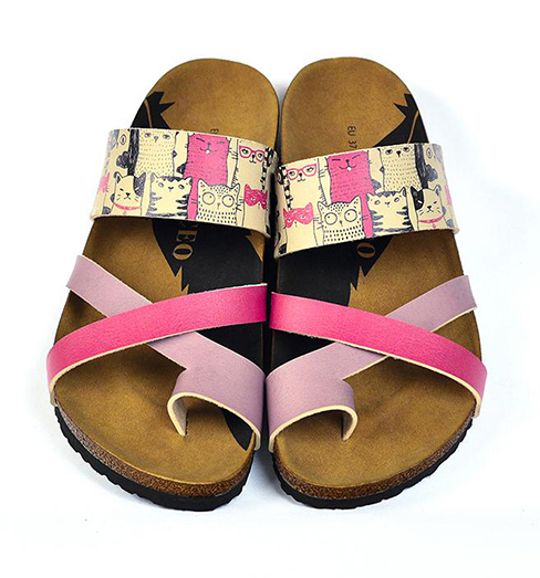 Calceo papuci roz Thong Sandals