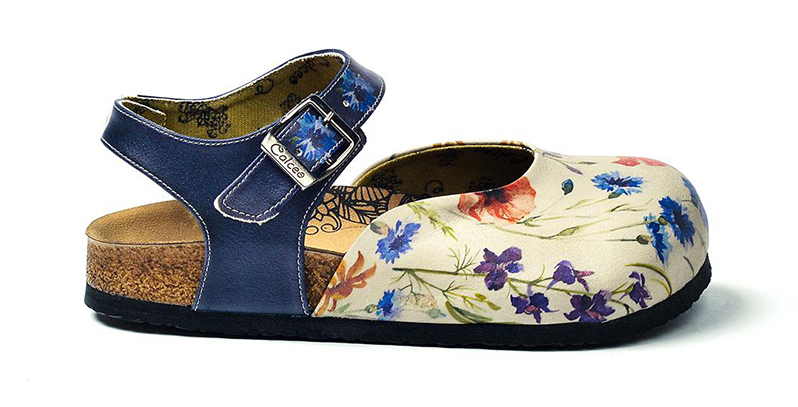 Calceo sandale albastre Classic Sandals Wildflowers