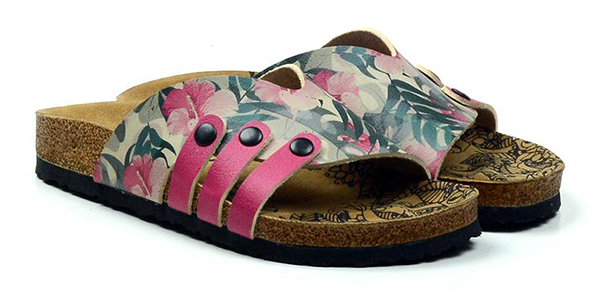 Calceo papuci colorati Casual Slippers Hibiscus